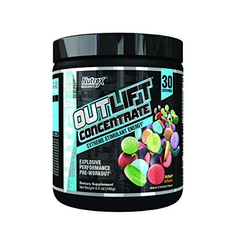 Nutrex - OutLift Concentrate Explosive Performance Pre-Workout Powder 30 Porciones Sour Shox - 6.8 oz.