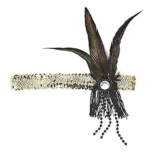 Dekoratives Stirnband 20- iger Jahre in gold