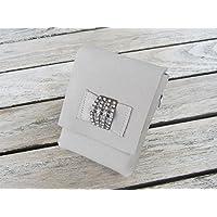 zigbaxx Zigarettenetui DIAMONDS Zigarettenhülle für Zigarettenschachtel / Täschchen aus Nubuk-Leder mit Strass, sand-beige / stein-grau