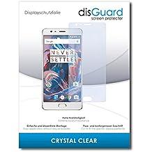 """2 x disGuard® Protector de pantalla OnePlus 3T Protectores de pantalla de película """"CrystalClear"""" invisible"""