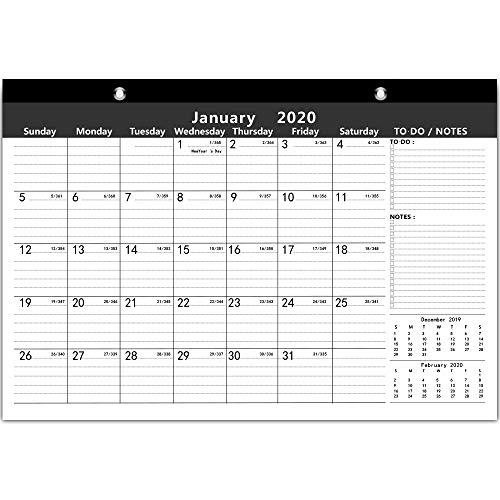 Ankuka home planner calendario con design colorato per calendario da parete 2019-2020, daily planner accademico calendario planner per scuola, ufficio, casa (42 x 30 cm)