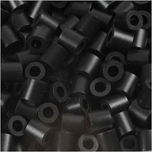 Fuse Beads. size 5x5 mm. hole size 2.5 mm. black (1). medium. 6000pcs
