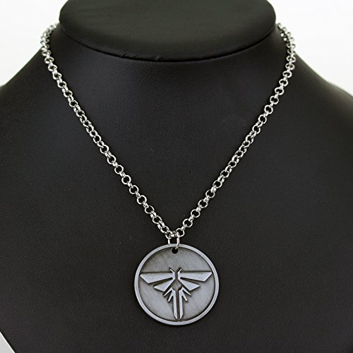DTKJ Round Grey Firefly Pendant Necklace for Men Fashion Accessories