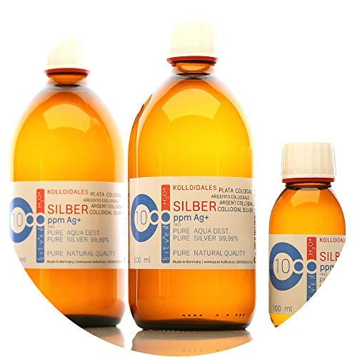PureSilverH2O 1100ml kolloidales Silber (2X 500ml/10ppm) + Flasche (100ml/10ppm) Reinheit & Qualität seit 2012 preisvergleich
