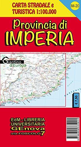 Provincia di Imperia. Carta stradale 1:100.000