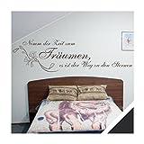 Exklusivpro Wandtattoo Wand-Spruch Nimm dir Zeit zum Träumen. mit SWAROVSKI (zit27 schwarz) 180 x 48cm mit Farb- u. Größenauswahl