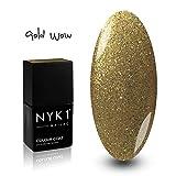 NYK1 NAILAC - GOLD WOW - Professional Shellac Gel Nail Polish - UV &...