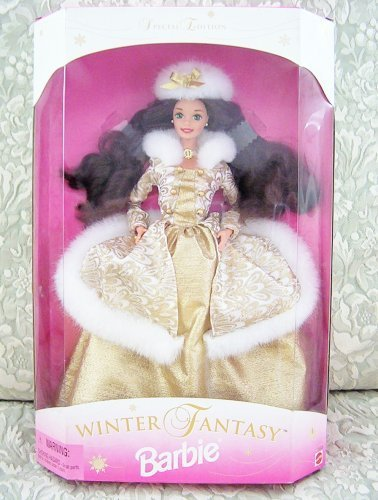 1995 Winter Fantasy Barbie Brunette - Sam's Club Exclusive by Mattel
