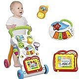 moon-1 Musique bébé bébé Marcheur bébé première étape Voiture Chariot bébé vis réglable Apprentissage Permanent