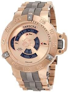 Invicta 1571 Men's Subaqua Noma Rose Gold Plated SS & Titanium Mechanical Watch