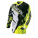 O'Neal Element Jersey Shocker Schwarz Gelb Hi-Vis Moto Cross Enduro Downhill Trikot, 0024S-60, Größe XL