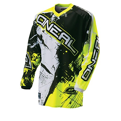 O'Neal Element Kinder MX Jersey SHOCKER Neongelb Motocross Enduro Offroad, 0025S-60, Größe M