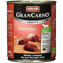 Animonda GranCarno Hundefutter Sensitive Adult Reines Rind, 6er Pack (6 x 800 g)
