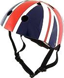kiddimoto 2kmh013s - Design Sport Helm Union Jack, Brit Pop Gr. S für Kopfumfang 48-53 cm, 2-5 Jahre