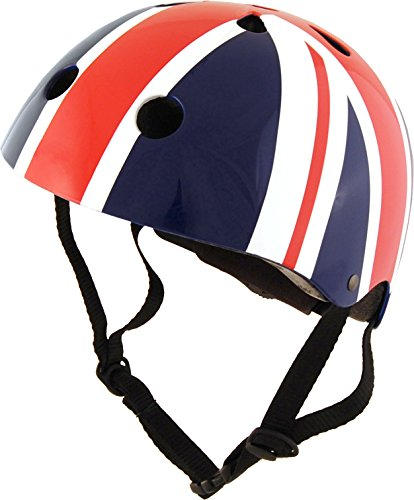 Kiddimoto 2kmh013s Design Sport Helm Union Jack / BritPop Gr. S, für Kopfumfang 48-53cm (2-5 Jahre)