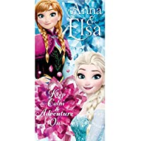 Disney Frozen WD17862 Beach Towel, Kids, Girl, Cotton, Anna, Elsa