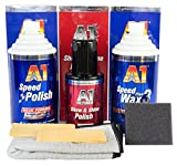 DR. WACK A1 Speed Polish Politur & Speed Wax Plus 3 Wachs & Ultima Show & Shine