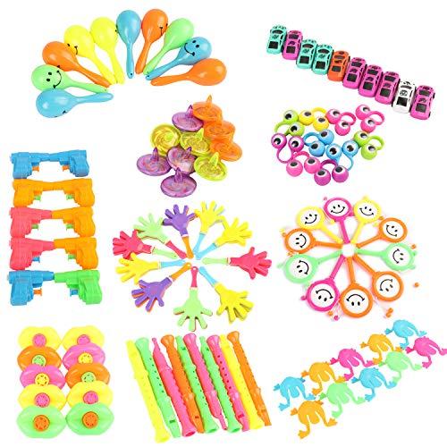 100PCS Assortimenti di Giocattoli per Bambini, Bomboniere per Feste Forniture Ragazza Ragazzo Regalo di compleanno Borse Bambini Premio Scuola di Carnevale, Articoli per Feste e Compleanni per Bambini