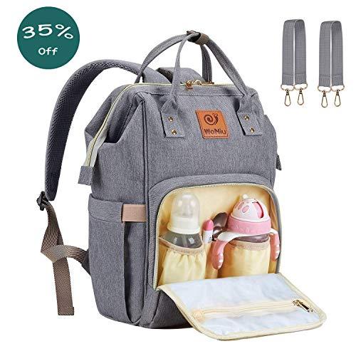 Mochila de viaje del bolso del pañal del bebé - Joven Mochila del pañal con multifuncional Tejido impermeable del bolso del bebé de gran capacidad para el carro de bebé, organizador portátil del bolso