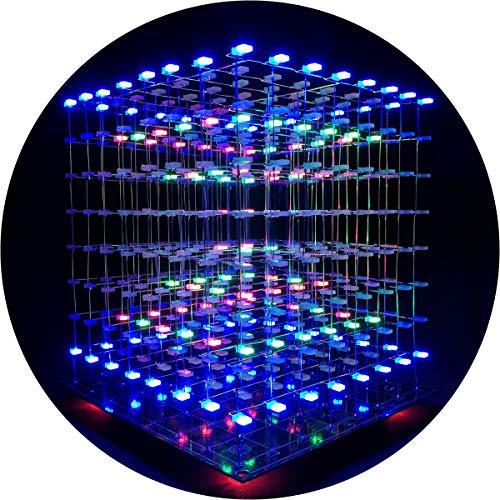 ICubeSmart 3D LED Cubo Bricolaje electrónico 8x8x8
