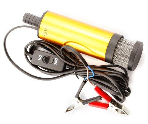 Transfer-schalter (Aliaoforz Elektrische Tauchpumpe für das Auto, 12 V, Diesel, Kraftstoff, Wasser, Öl Transfer Tauchpumpe mit An/Aus-Schalter Ölmotor Umfüllpumpe)