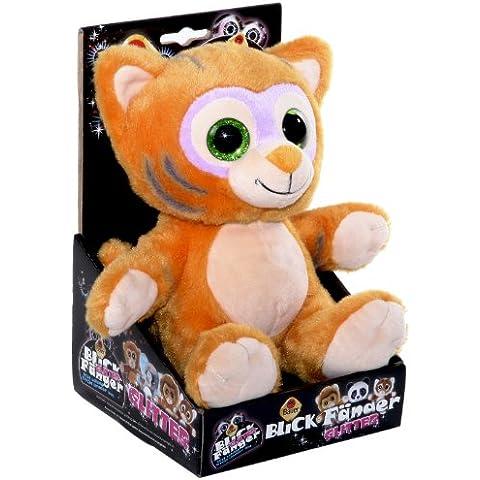 Blickfänger 14183 - Peluche Tiger Glitter in Box, Orange, 20 cm