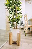 #9: modern decor strong wooden Plant Stand,, Mid Century Indoor planter