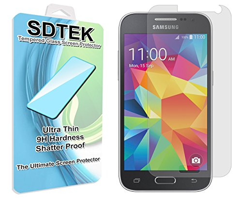 SDTEK Vetro Temperato Compatible con Samsung Galaxy Core Prime G360 Pellicola Protettiva Protezione Protettore Glass Screen Protector Compatible con Samsung Galaxy Nucleo Prime G360