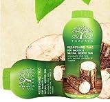 De Leaf Thanaka Refreshing Talcum Powder for Smooth & Natural Scented Skin 200g, Thailand