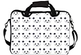 """Snoogg Cute Panda Black And White Pattern 14"""" 14.5"""" 14.6"""" inch Laptop Notebook SlipCase With Shoulder Strap Handle Sleeve Soft Case With Shoulder Strap Handle Carrying Case With Shoulder Strap Handle for Macbook Pro Acer Asus Dell Hp Sony Toshiba"""