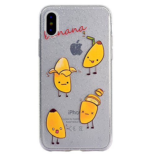 Cover per iPhone X Custodia Silicone , YIGA Piccolo panda Cover Cristallo Trasparente Guscio Silicone Morbido TPU Case Soft Shell Skin Protezione Custodia per Apple iPhone X (5.8) MM58