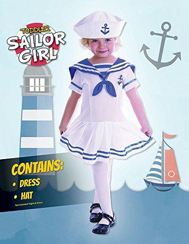Imagen de muchacha del marinero  niño  niños disfraz  niño  90cm a 104cm alternativa