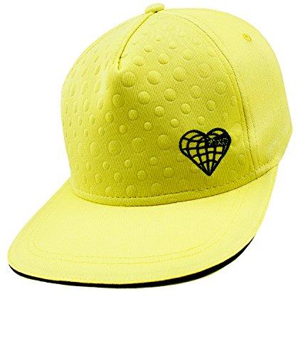 Preisvergleich Produktbild EveryKid Maximo Mädchensnapback Snapback Cap Flat Visor Basecap Schirmmütze Schildmütze Sommer f. Kinder (MX-73503-802100-S17-MA1-0051-51/53) in Narzisse, Größe 51/53 inkl Fashionguide