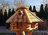 holzdekoladen Vogelhaus Vogelhäuser mit Holzschindeln Typ 27 (Dunkelbraun, ohne Ständer)