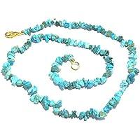 Exclusive türkis Edelstein Halskette Crystal Healing Fashion Wicca Jewelry Geschenk Frieden Meditation Power Throat... preisvergleich bei billige-tabletten.eu