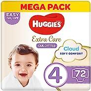 Huggies Extra Care Pants - Size 4, Mega Pack, 9-14 kg, 72 Diapers Pants