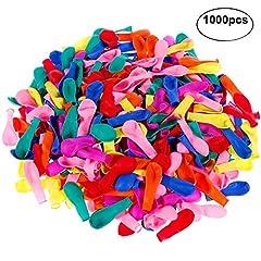 Idea Regalo - Faburo 1000 Palloncini d'Acqua, Gavettoni, colorato Fluorescente, Facile da riempire 12CM