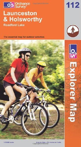 Launceston and Holsworthy (OS Explorer Map Active)