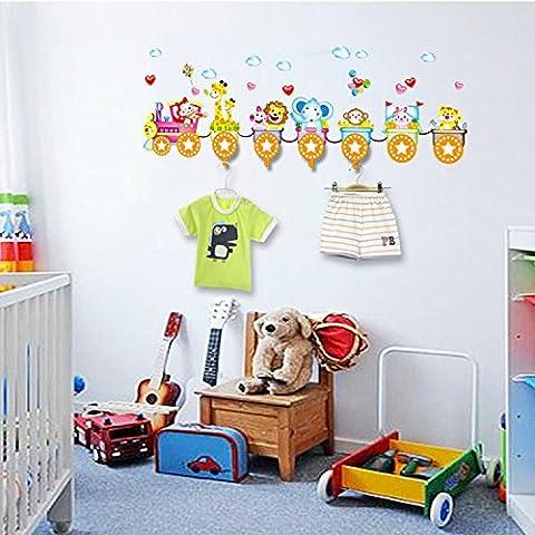 ZYJYameublement de maison salle création 3d affiché les autocollants 44 * 57cm lit mural décoratif animal crochet