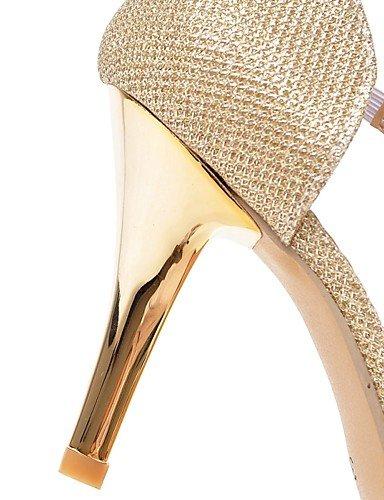WSS 2016 Chaussures pu talons talon aiguille / orteil pointu talons bureau des femmes&carrière / argent casual / or silver-us6.5-7 / eu37 / uk4.5-5 / cn37