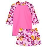 TUGA Sunwear Tropical Breeze Set-UV-Shirt, Baderöckchen und Bikini, Taffy, 148-158 (13-14 Jahre), 18-1010-13/14