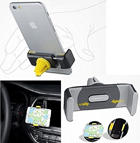 """BlueInk WOPOW Universal Car Mount Air-Vent Mobile Car Holder Cradle for iPhone, Samsung and other 3.5-6"""" Smartphone"""