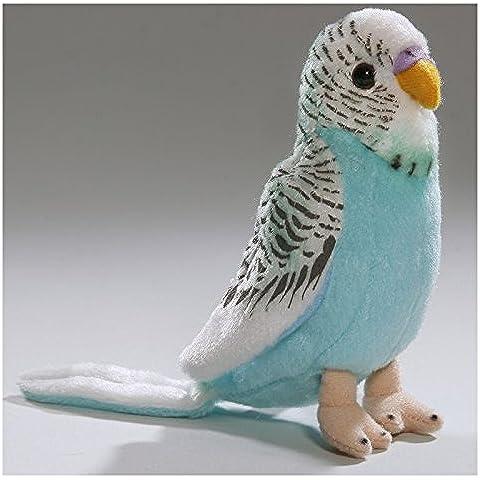 Peluche - Periquito, Loro azul con sonido (felpa, 13cm) [Juguete]