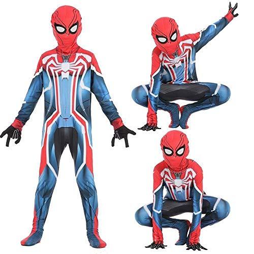 Kinder Spider Boy Overall 3D Print Spandex Lycra Body Spiderman Cosplay Kostüm Halloween Kostüm Onesies - Kostüm Superhelden Boy