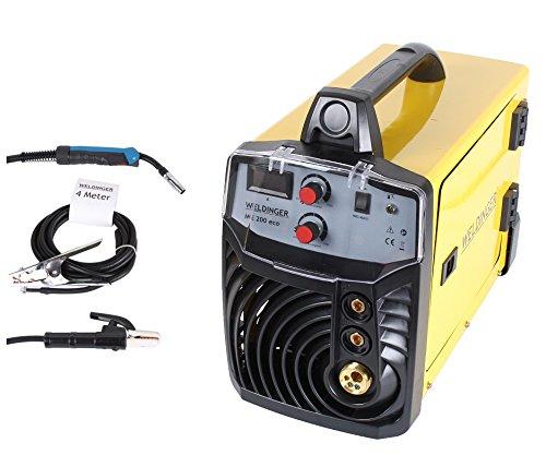 MIG-MAG Schutzgasschweißgerät/Schweißinverter ME 200eco von WELDINGER 200A auch Elektrodenschweißen möglich