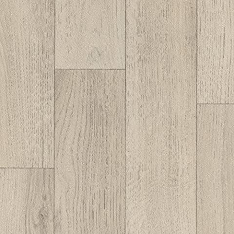 PVC CV Vinyl Bodenbelag Auslegware Holzoptik Schiffsboden Eiche weiß 200, 300 und 400 cm breit, verschiedene Längen, Variante: 4,5 x 3