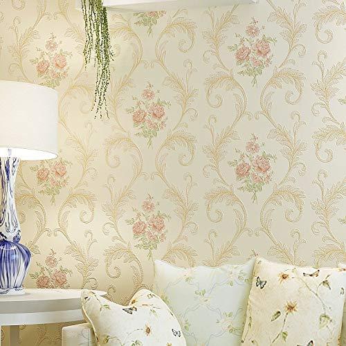 SK-YBB 3D Pastoralen Vliestapete Wohnzimmer Dekoration Schlafzimmer Wand Dekor Europäischen stil Einfache Blume TV Hintergrund Wandpapier