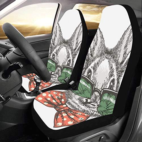 Coprisedili posteriori Simpatici conigli bianchi pelosi Carota Coprisedili per auto adattati per auto universale Protezione per camion auto Suv Veicoli Donne Lady (2 anteriori) Xl Coprisedili post