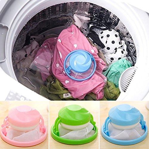 Lionina Wäschesack aus Netzgewebe, zum Entfernen von Haaren, wiederverwendbarer Wäschesack, Netz-Wäscheball, zufällige Farbe