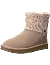 Ugg Women's Saela Women's Boots With Kniting In Beige Color